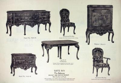 Furniture Plate, Berkey & Gay Furniture Company, Dining Room Suite 2676