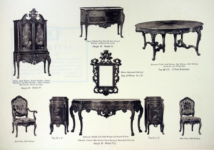 Autographed Suite Furniture Plate, Grand Rapids Furniture