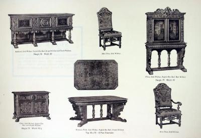 Autographed Suite Furniture Plate, Berkey & Gay Furniture Company, The Borgia