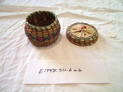 Black Ash Splint Basket With Lid