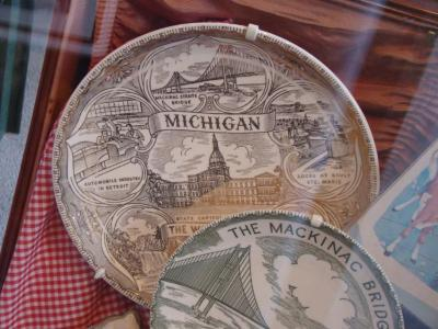 Souvenir Plate, 'Michigan, Wolverine State'