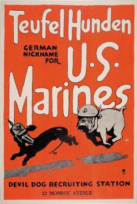 Poster, Teufel Hunden, German Nickname for U. S. Marines