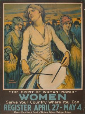 Poster, The Spirit Of Woman-Power, by Paul Honore