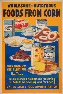 Poster, Wholesome Nutritious Foods From Corn