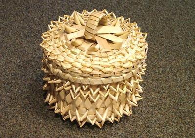 Black Ash Basket With Lid