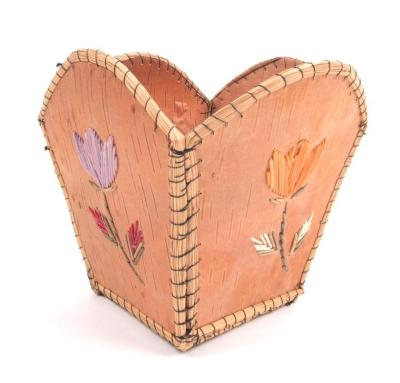 Basket With Quillwork Embellishment