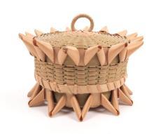 Lidded Basket With Porcupine Twist Details