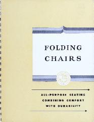 Trade Catalog, American Seating Company, Folding Chairs