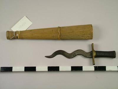 Kris Knife And Scabbard