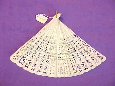 Fan, Ivory Blades And Cutouts