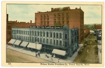 Grand Rapids Public Museum Collections Artifact Postcard Nelson Matter Furniture Company 149412