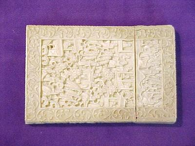 Card Case, Carved Ivory