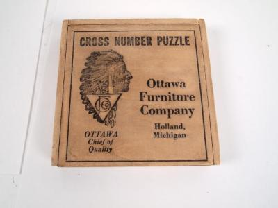 Puzzle, 'cross Number Puzzle'