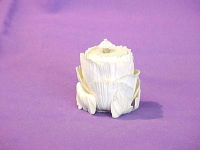 Carved Lotus Flower Jar With Lid (2 Pcs.)