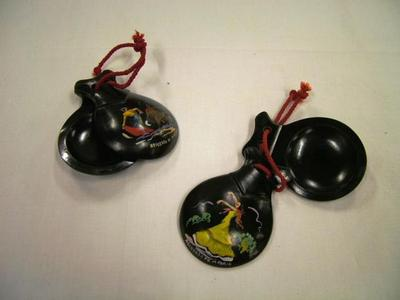 Castanets, Pair, Black Wood