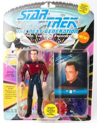 "Action Figure, Star Trek The Next Generation, ""Q"""