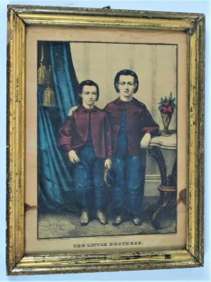 Hand-colored Lithograph, The Little Brothers, by the E.B. & E. C. Kellogg Co.