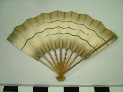 Paper Fan With Three Stripes