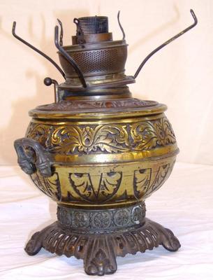Kerosene, Metal Base Lamp