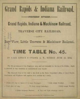 Archival Collection #190 - Grand Rapids and Indiana Railroad