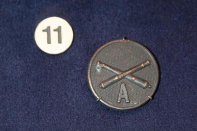 Insignia, Collar Disc, U.S. Artillery