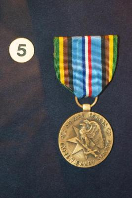 Insignia,  Armed Forces Expeditionary Medal, Roger B. Chaffee Archive Collection #6